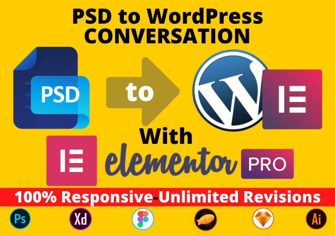 I will convert PSD or HTML to WordPress with elementor pro