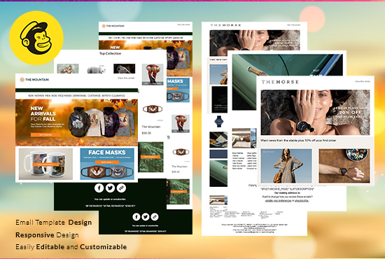 responsive custom mailchimp html email template newsletter design popup form