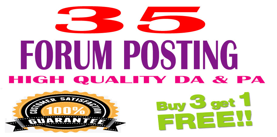 l will provide 35+5 Free d0f0ll0w ForumPosting backlinks on High quality DA & PA