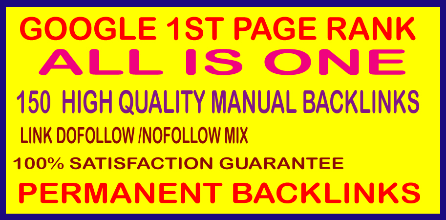 Google First Page Rank 150 High Authority DA and PA SEO Permanent backlinks