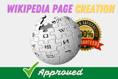 I will Create a Wikipedia page for your Brand and Business