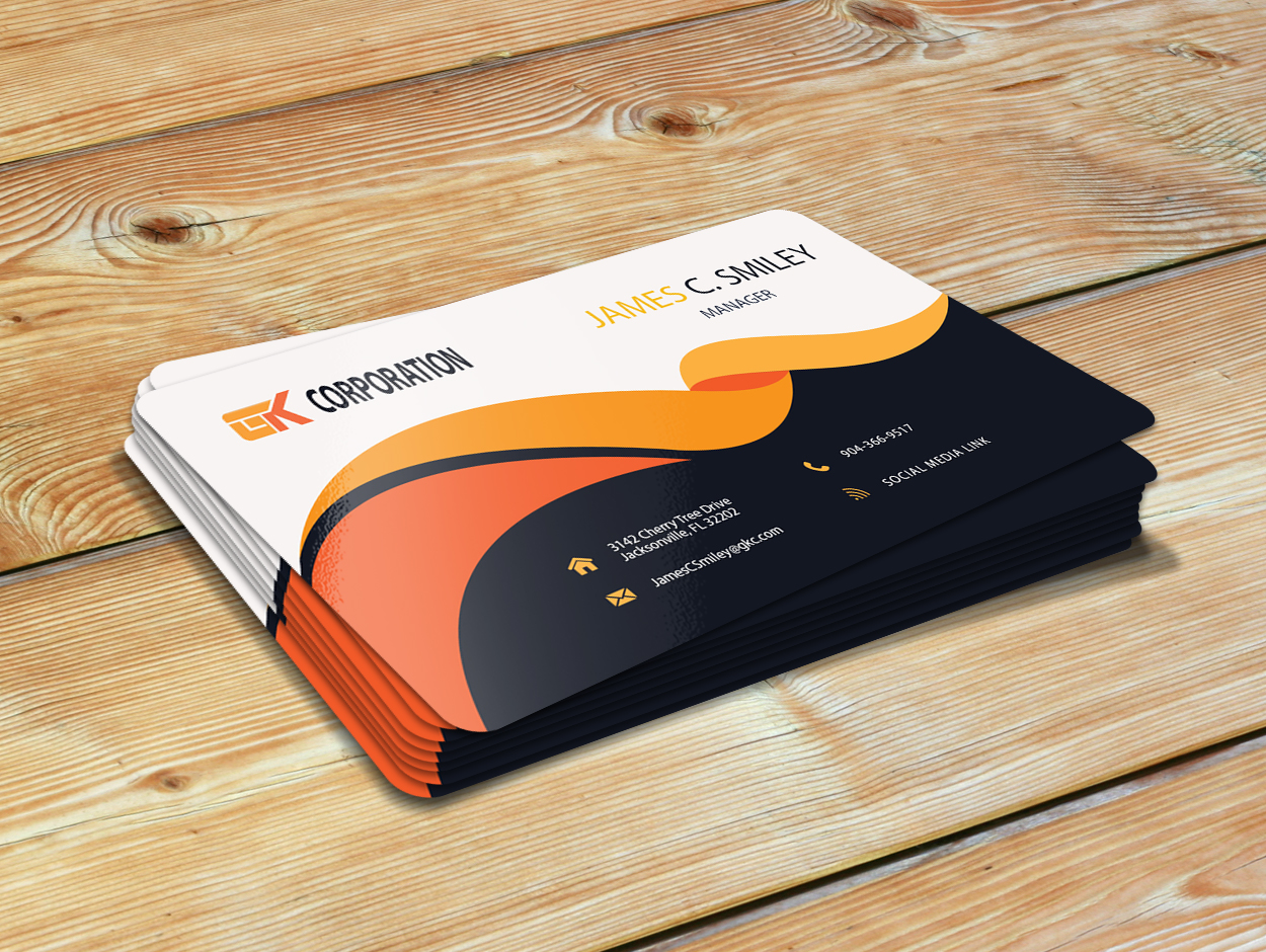 I will do professional,  minimalist,  stylish Business card for you at