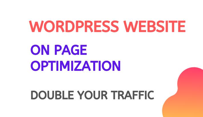 I will do best wordpress onpage seo using rank math or yoast plugin