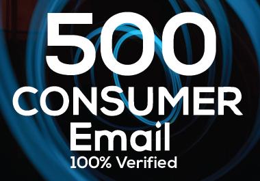 I will provide 500 verified nish base consumer email