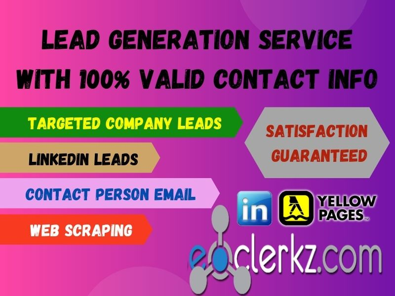I will do b2b lead generation with valid contact information