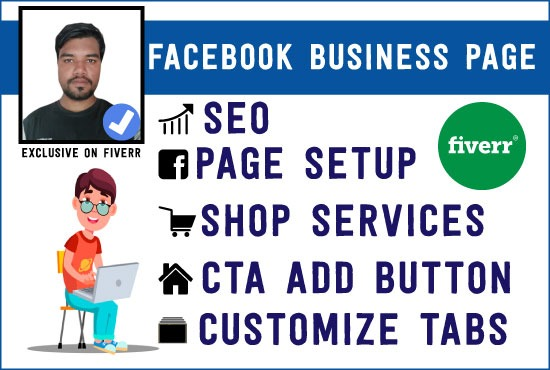 I will create and manage of facebook business page