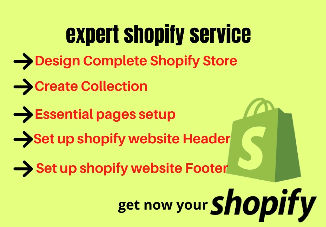 i will create or design your shopify store and upload product