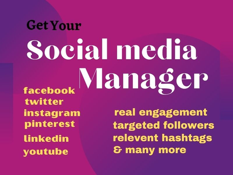 i will create Facebook, twitter, pinterest, LinkedIn, Instagram page and manage it