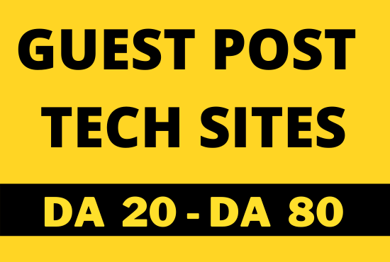 I will do tech guest post on tech blog via guest posting