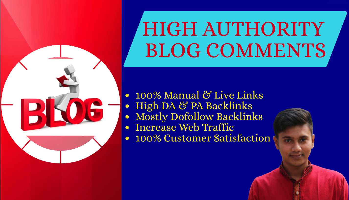 I will create 100 unique domain low obl blog comments with high da