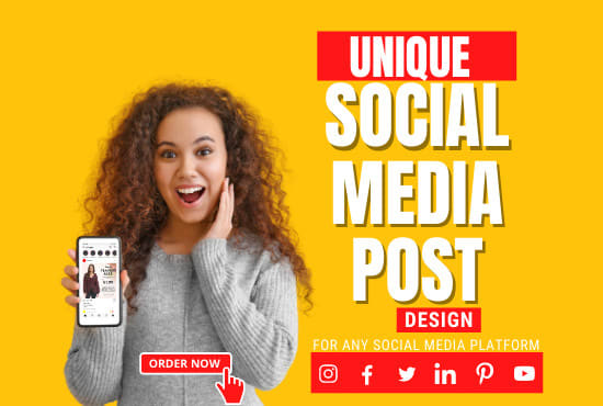 I will design 5 social media posts for instagram,  facebook