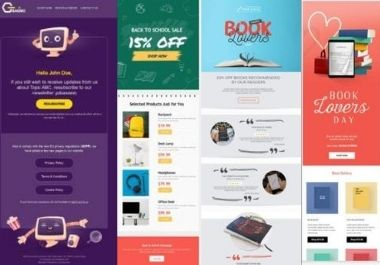 I will design a professional HTML email template or newsletter just