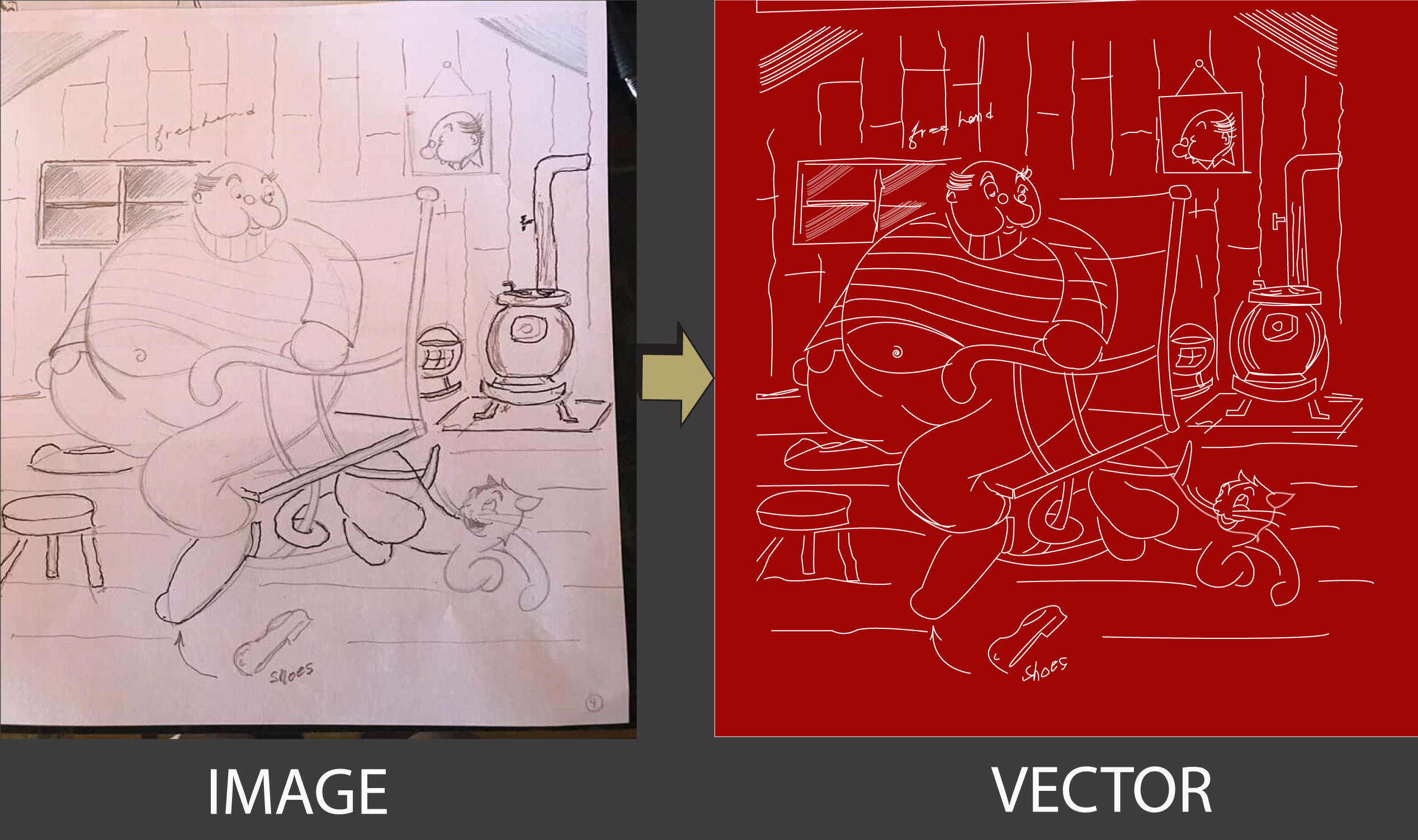 I will draw your image & sketch to vector Ai, pdf etc