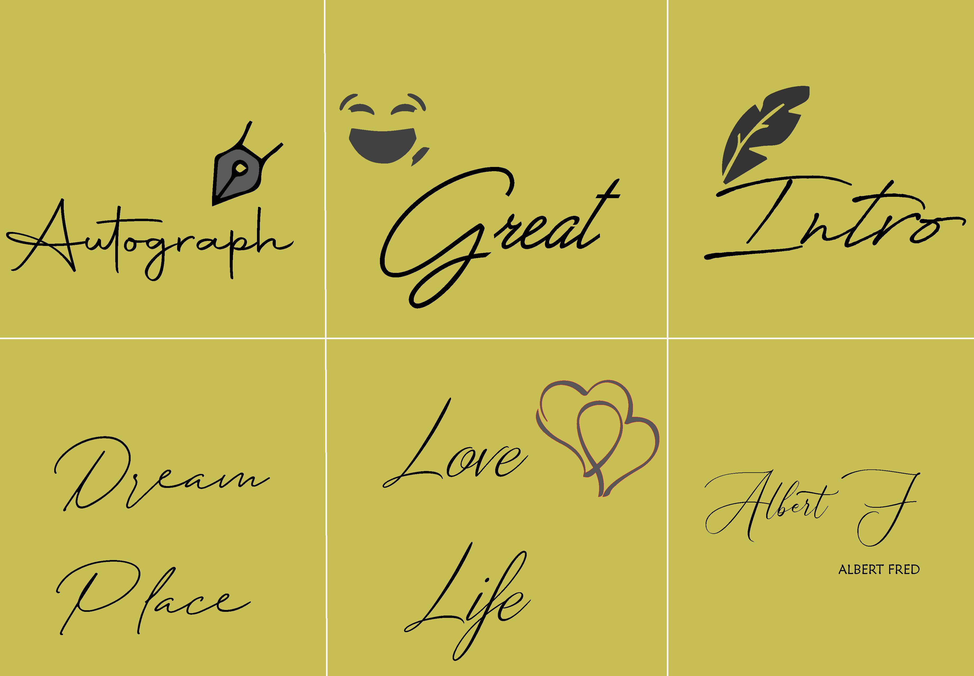 I will Design Hand Drawn and Custom Signature LOGO