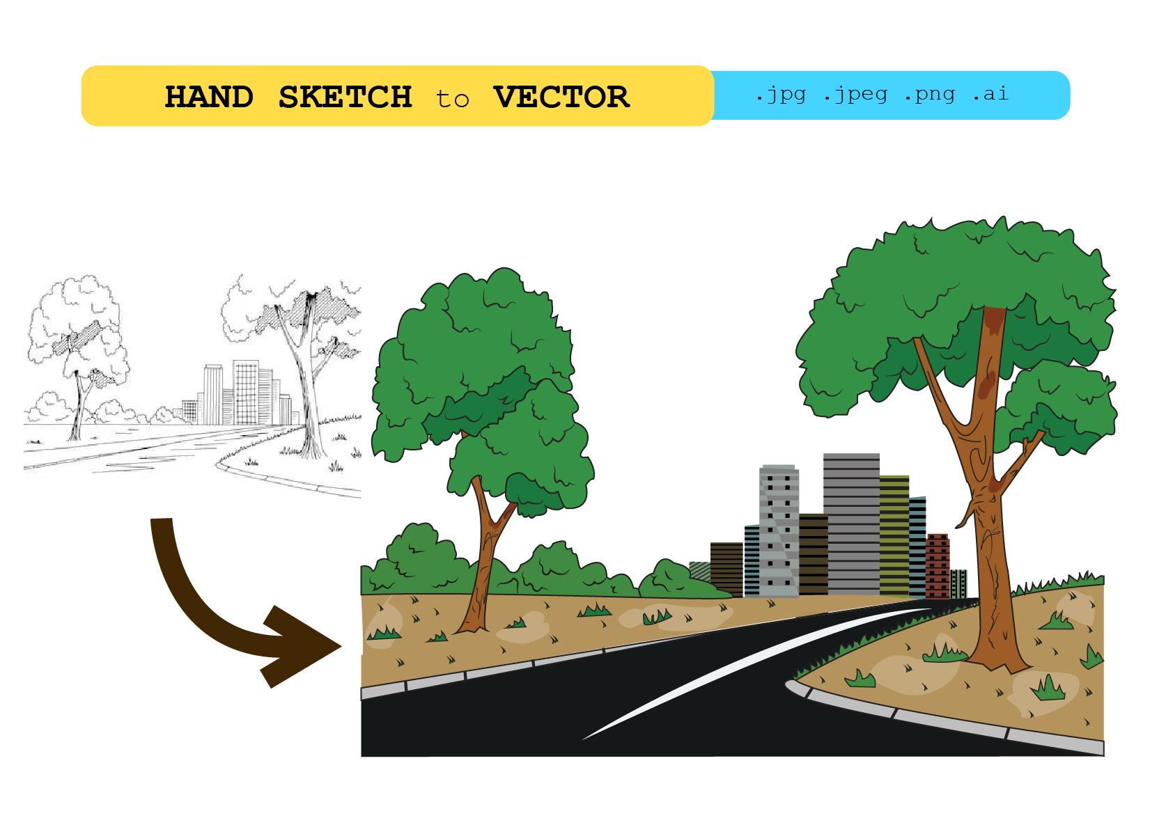 I will do sketch, logo idea to vector conversion professionally