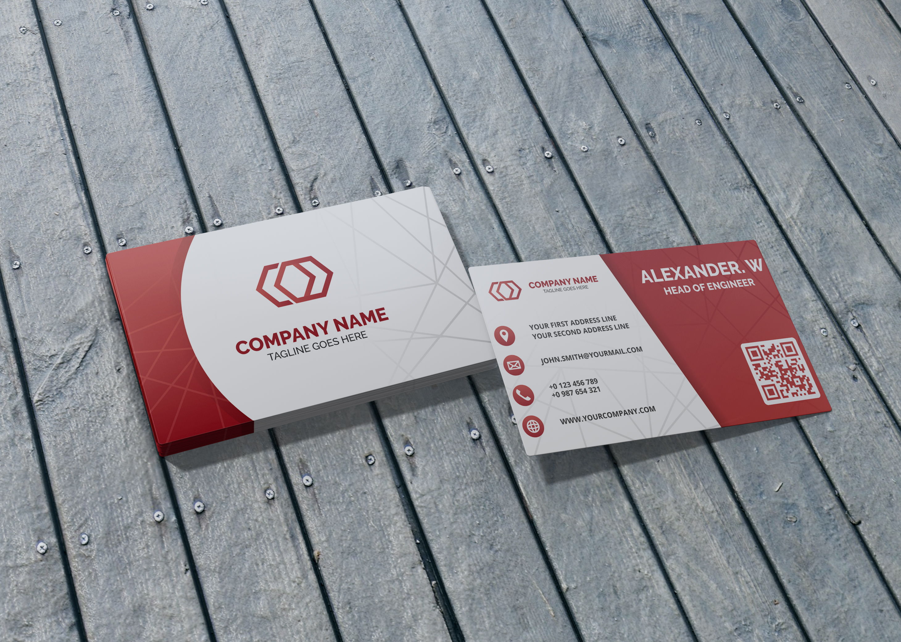 I will design minimalist, stunning and unique business card
