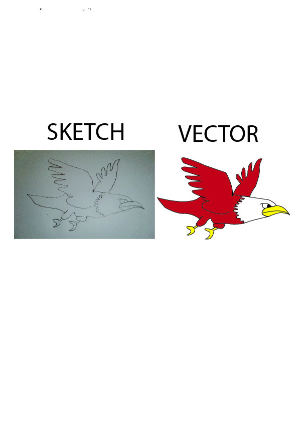 I will create your image or sketch to vector ai,  eps,  svg,  pdf