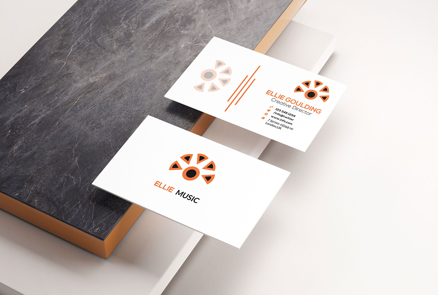I will do professional and minimal business cards design