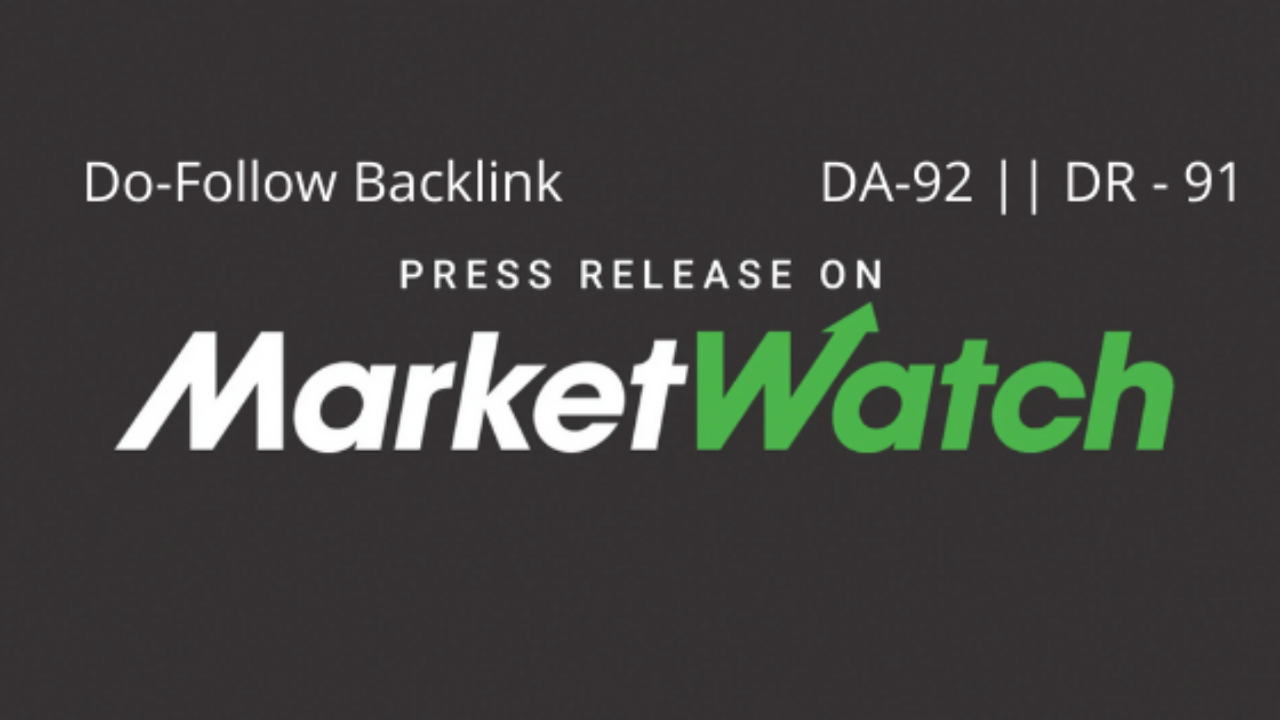Publish press release on marketwatch da92 with dofollow link