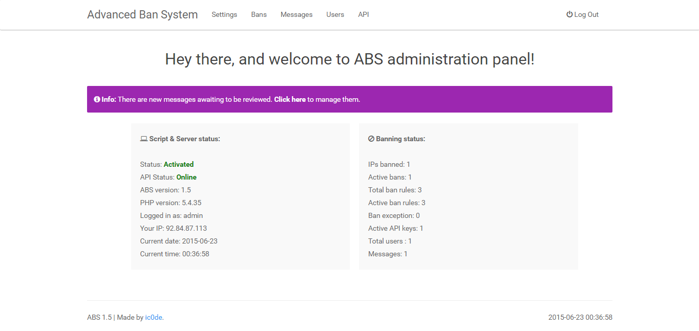 ABS - Advanced Banning System