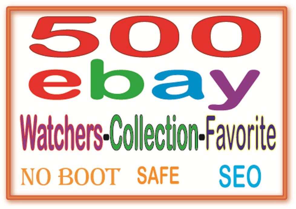 Ebay SEO Manually Add 500 Ebay watchers & collection & Visitors