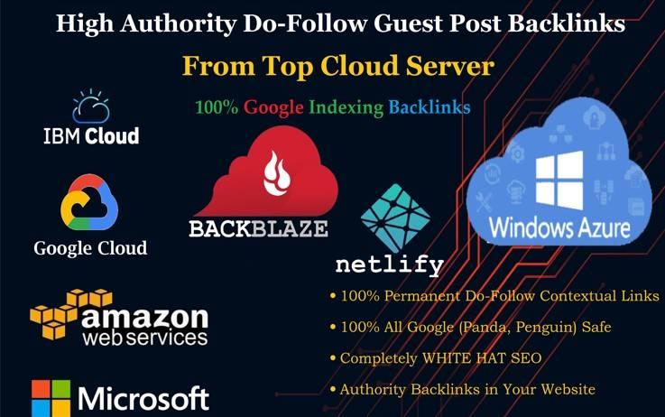 Dofollow guest post on amazon,  google IBM cloud microsoft azure Big Brand Company