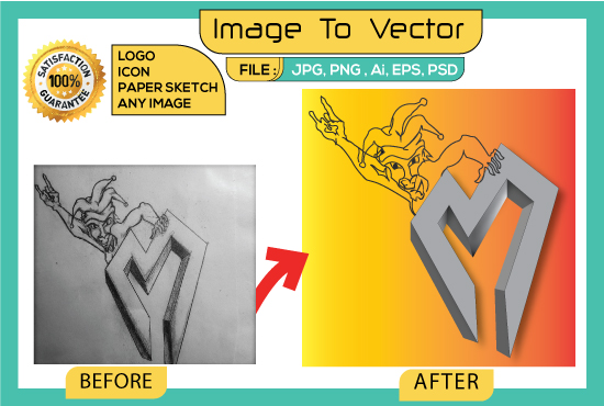 Vector Tracing of Logo,  Icon,  Sketch or any Images in Illustrator manually