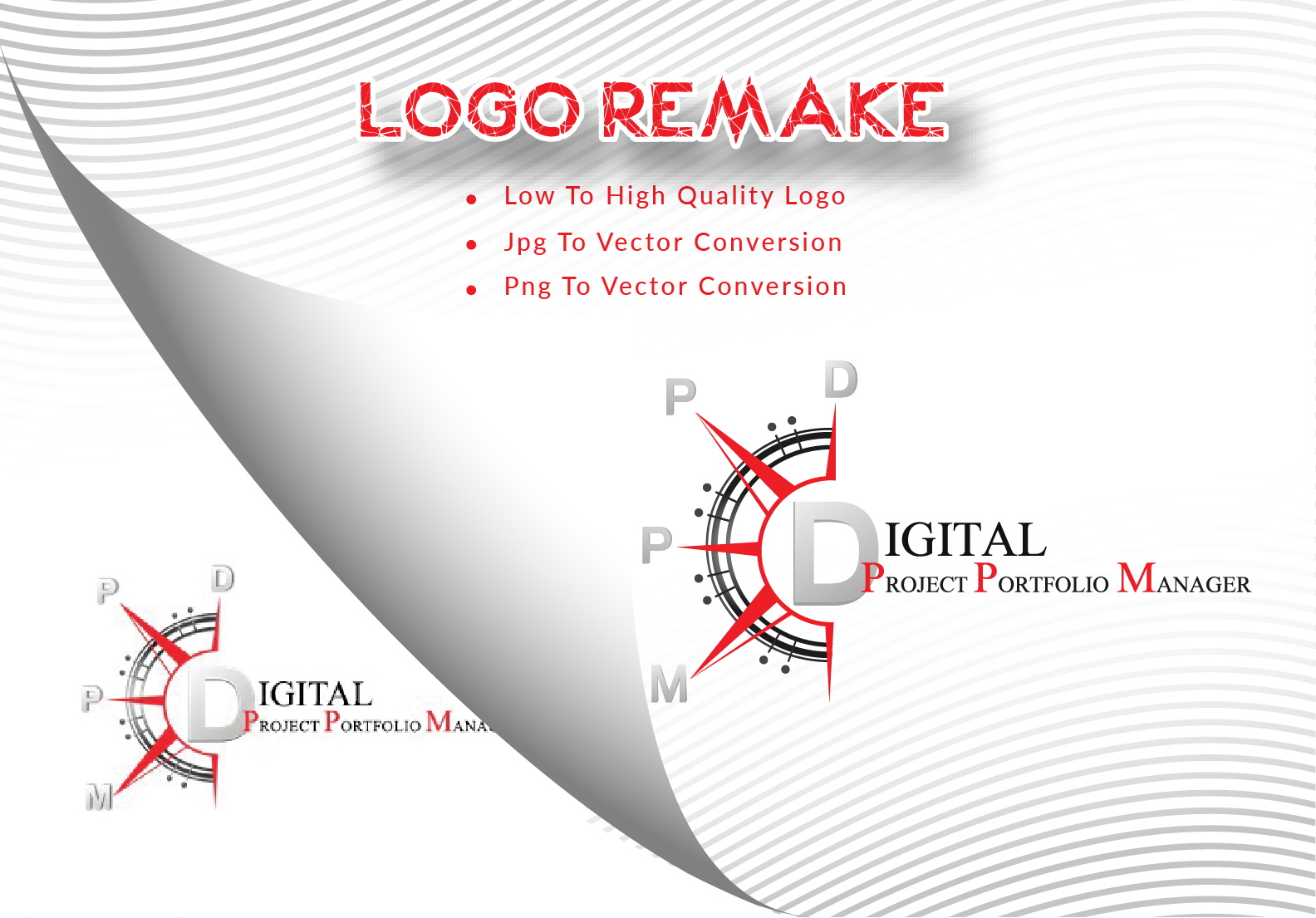 Manually REMAKE LOGO or JPG to Vector of any Logo or Text