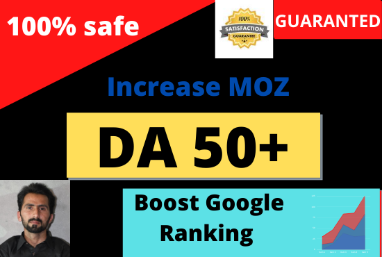 I will increase moz domain authority 50 plus