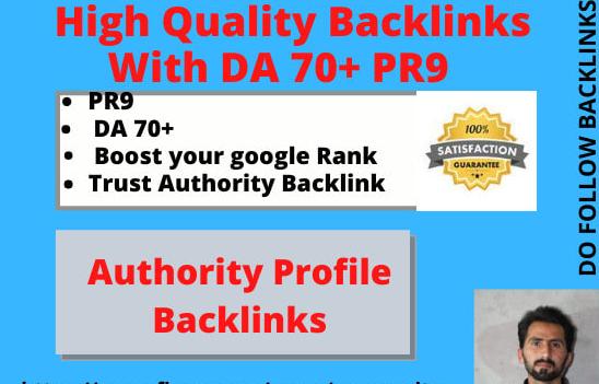 da70 pr9 high authority manual SEO dofollow backlinks link building