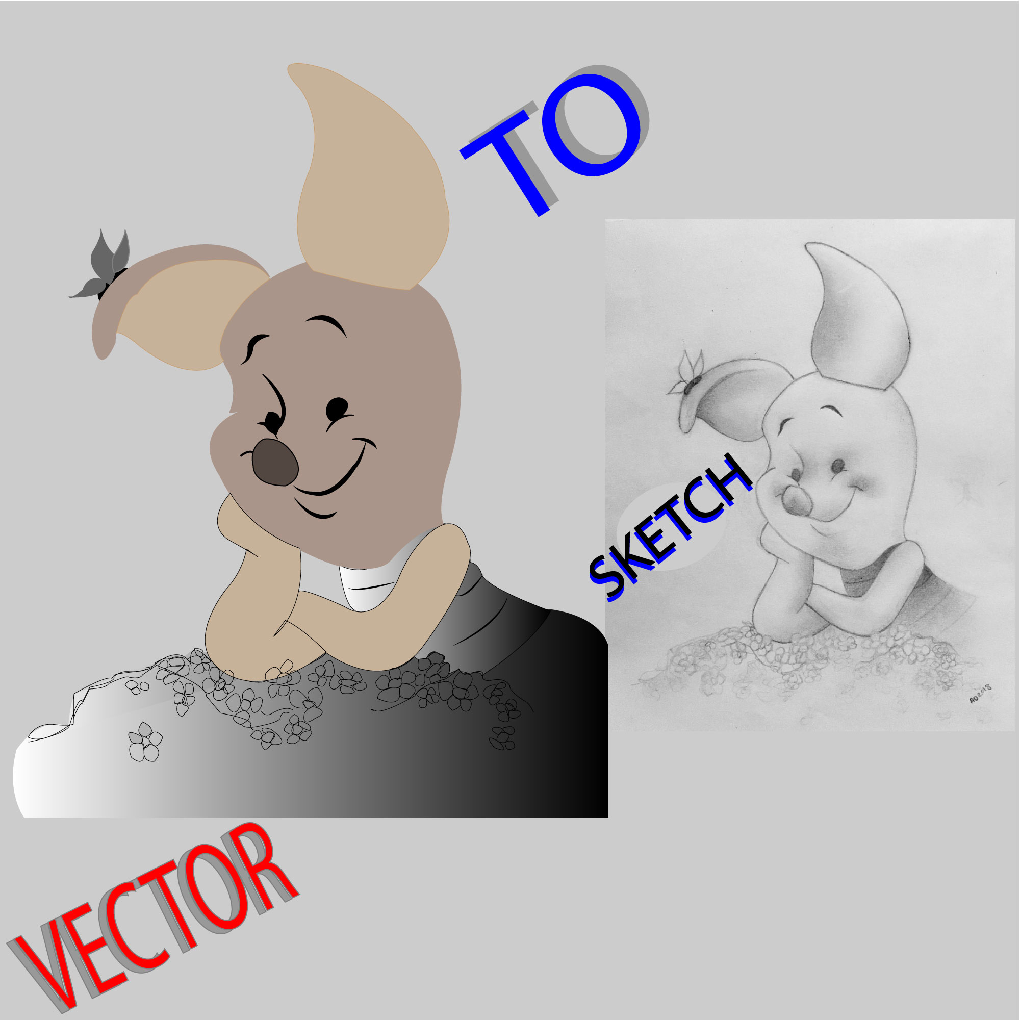 I will convert sketch to vector illustration,  logo,  anything within 12 hours