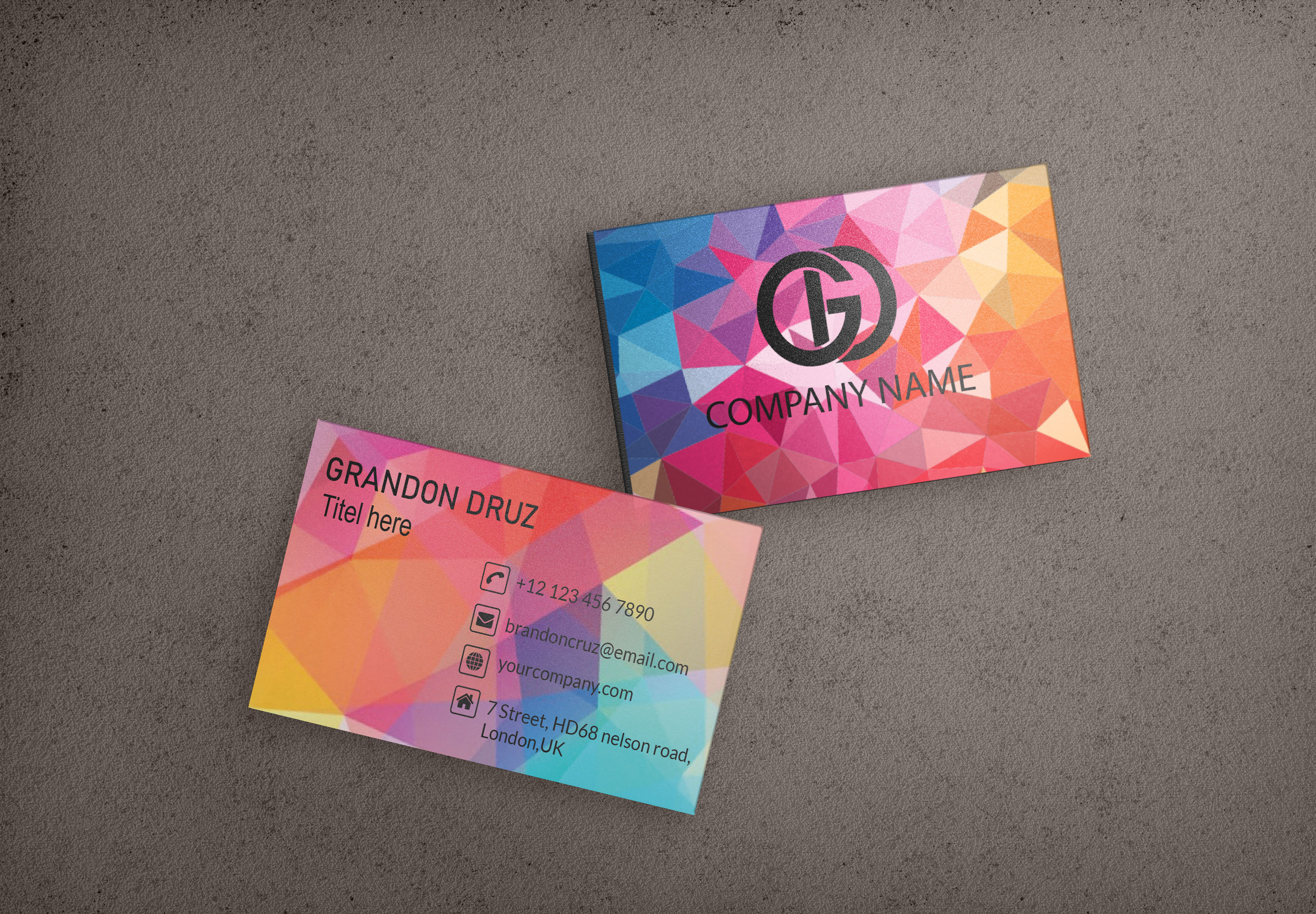 I will make you provide professional business card design services