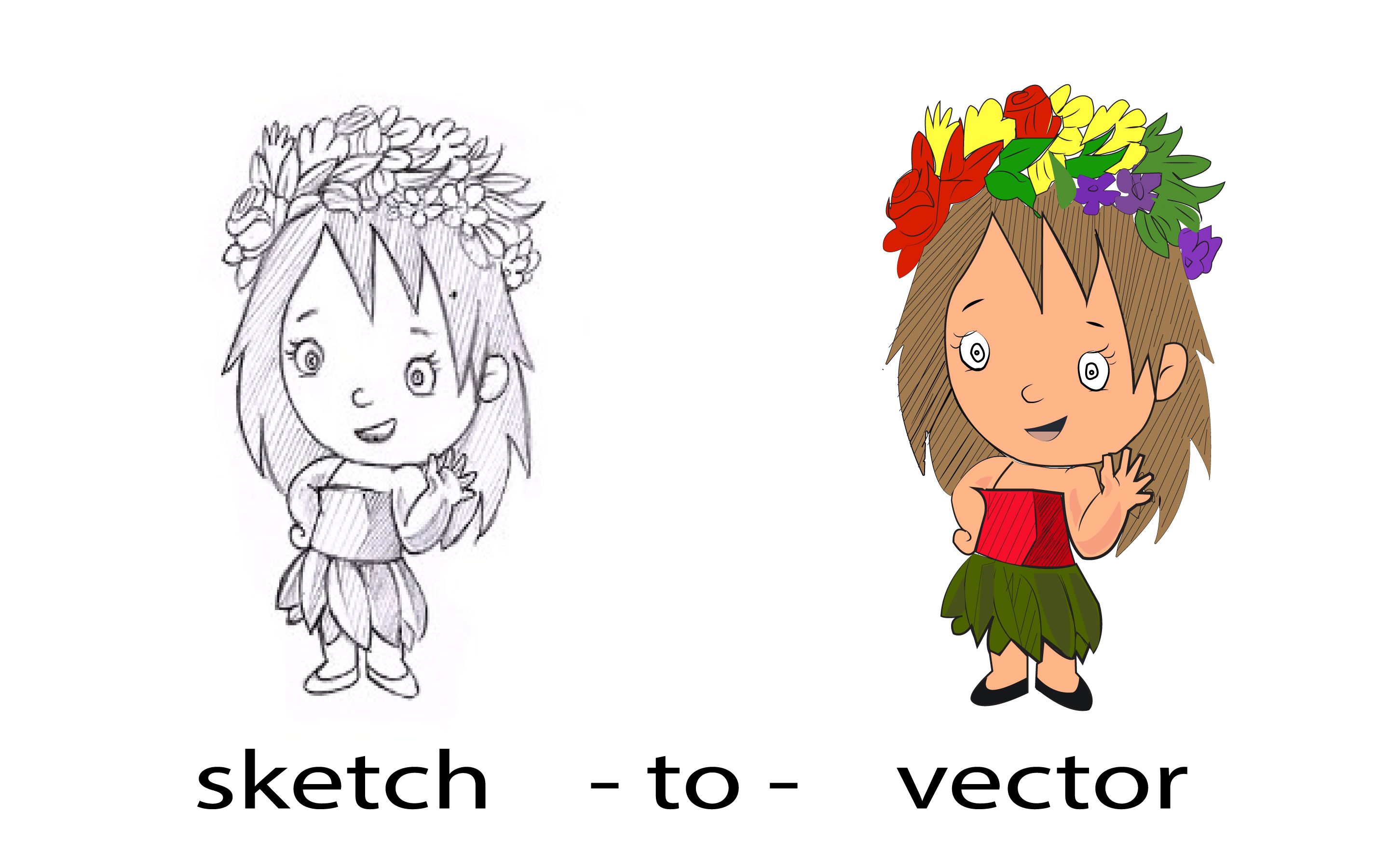 I will convert any sketch or idea into a vector.