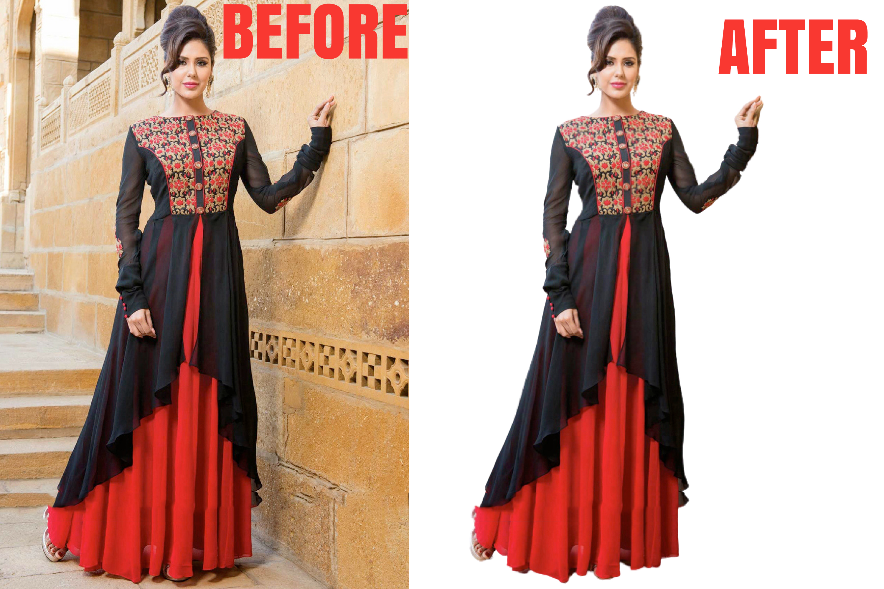 I will remove background, crop image and photoshop editing 2 images in 12 hours