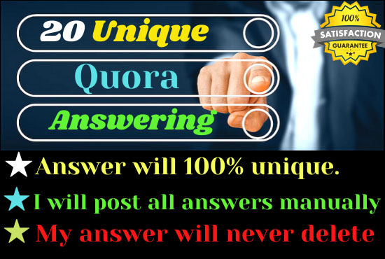 20 unique Quora answer for getting more traffic your website