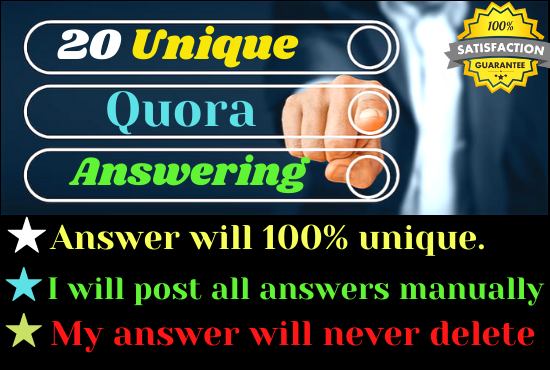 Offer 20 unique Quora Answer for getting Targeted Traffic