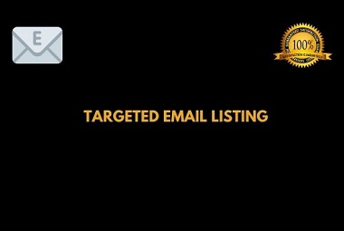 I will provide valid Email List of your targeted title for your business or industry