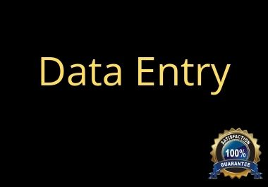I will help you with data entry for your business