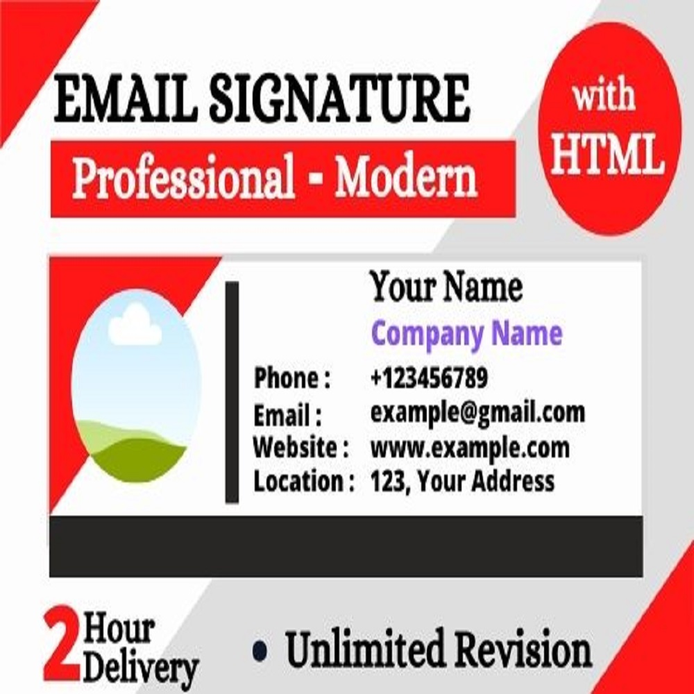I will create a clickable html email signature for your email