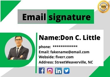 I will create beautiful clickable HTML email signature for outlook, gmail etc