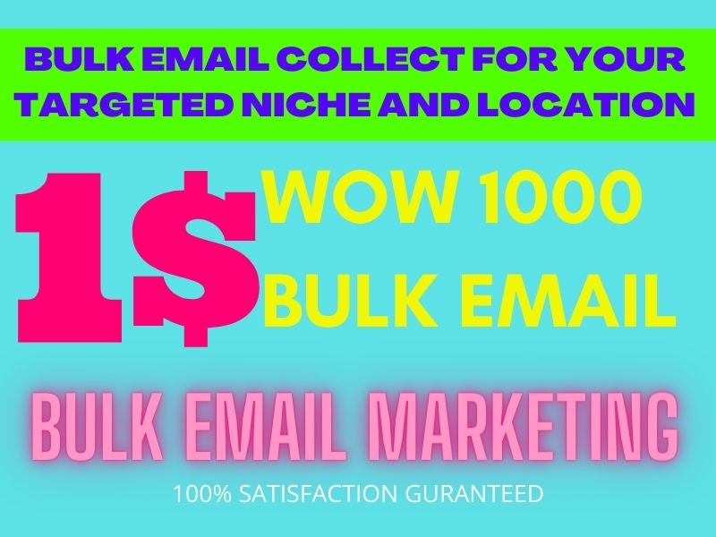 I will supply bulk email,  email campaign and template