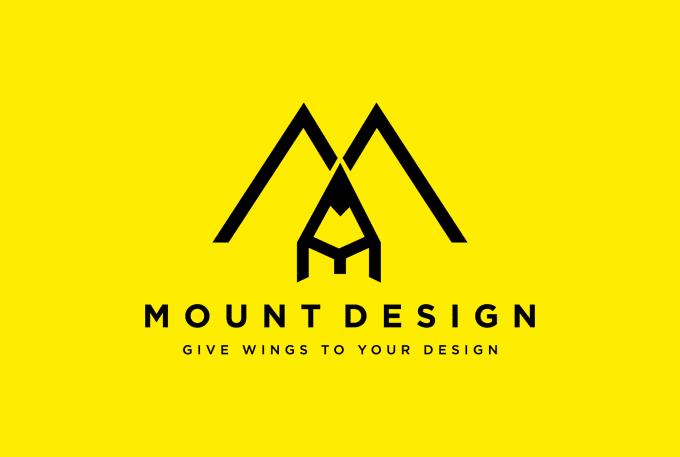 I will create a flat logo design
