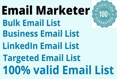 I will provide 2k targeted valid email address list