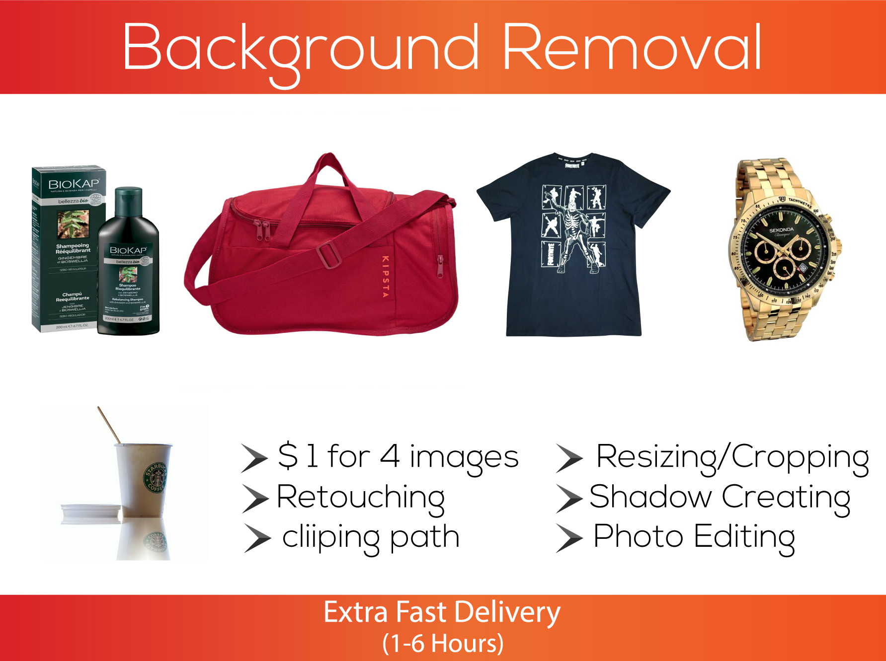 I will remove product background, photo editing, transparent, image retouching.