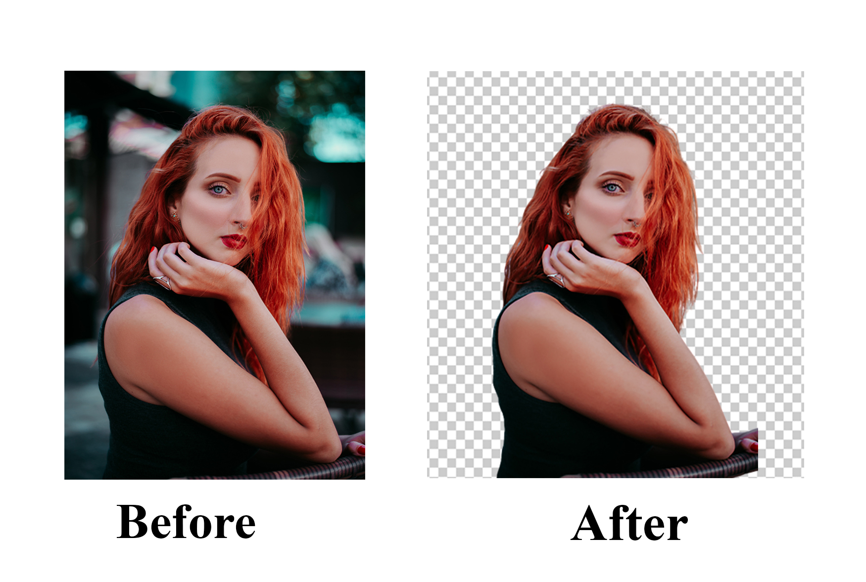 4 image background remove and photoshop editing