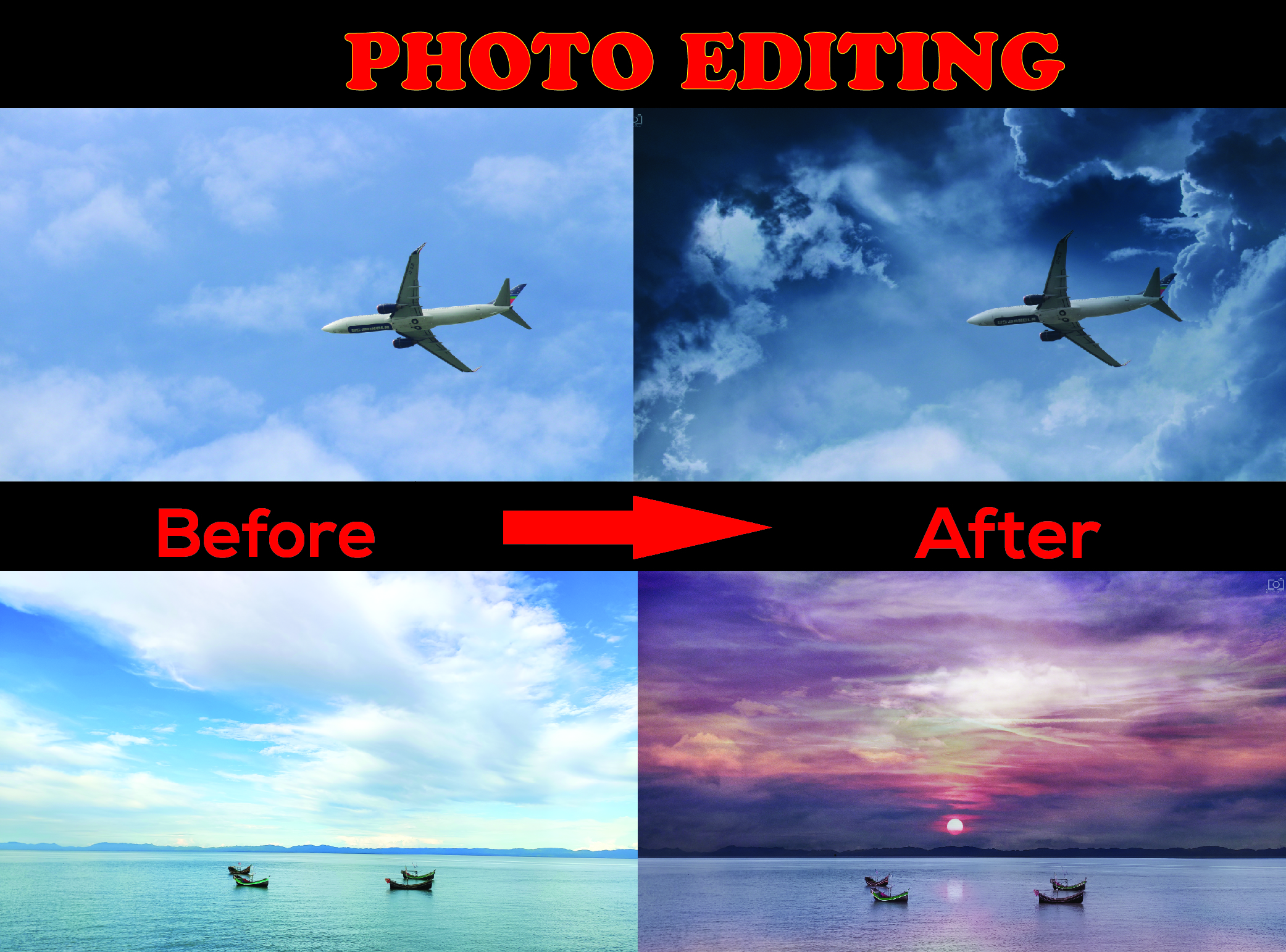 I will do image manipulation and editing