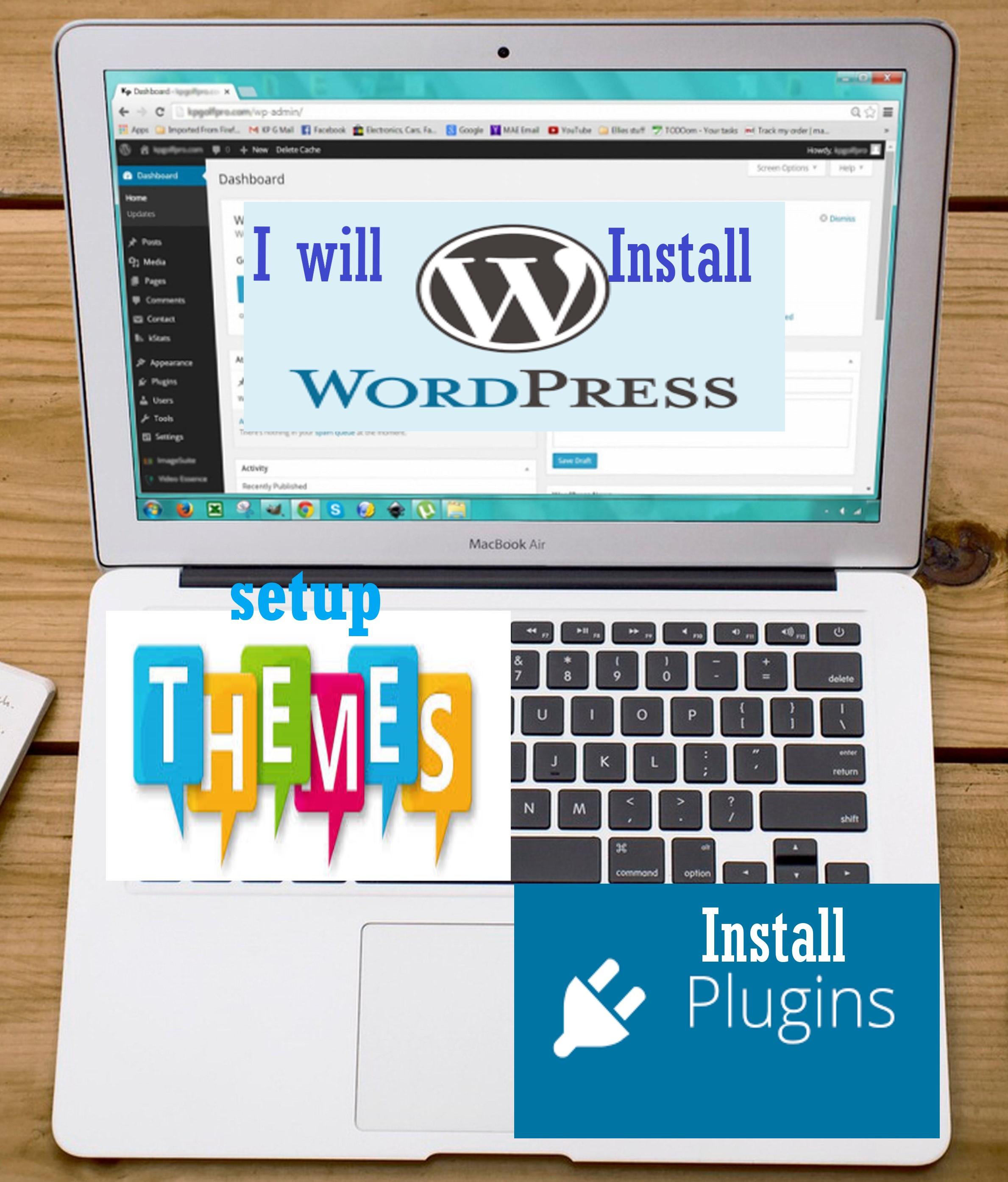 I Will Install WordPress,  theme and plugin