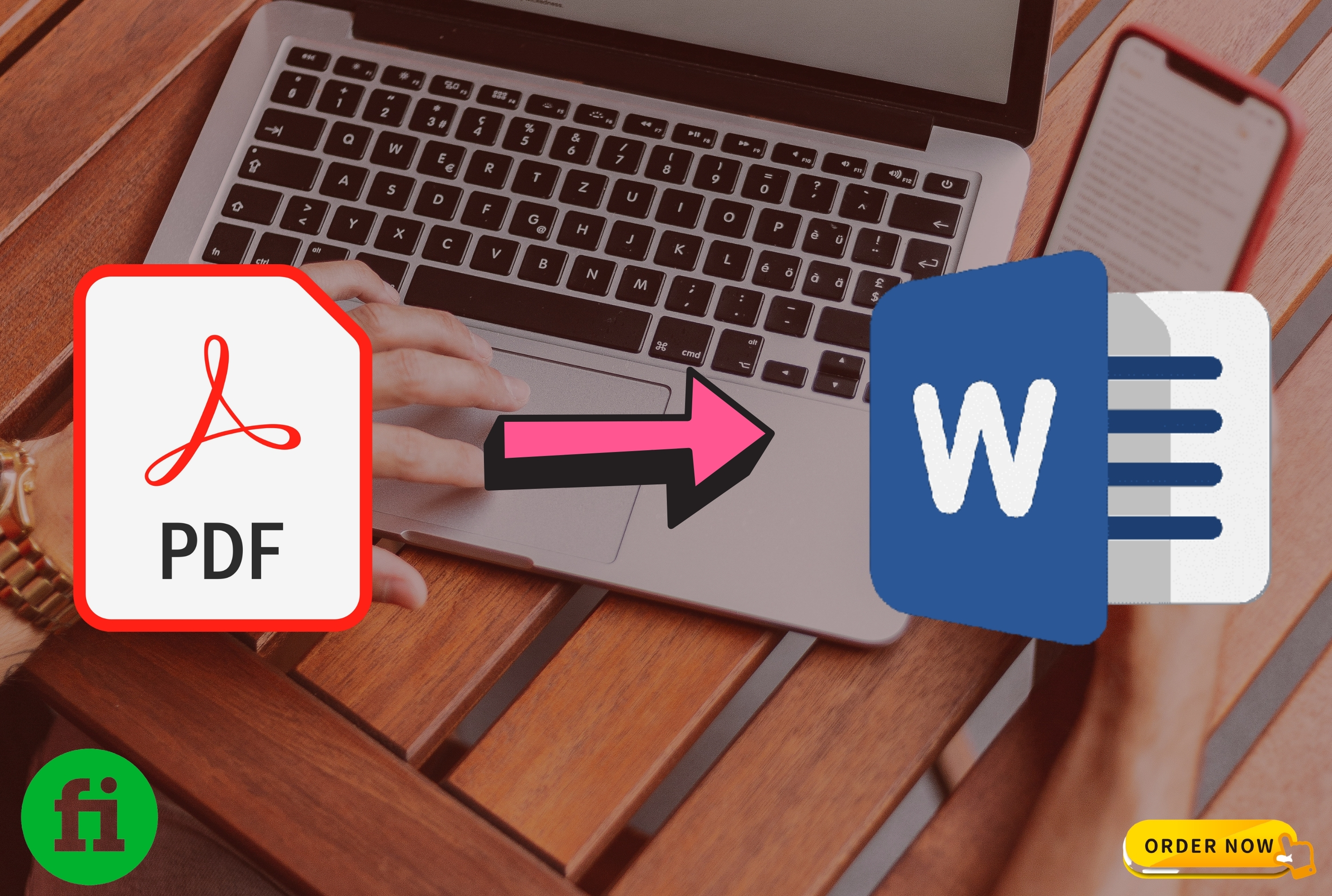 I will convert scanned PDF into WORD