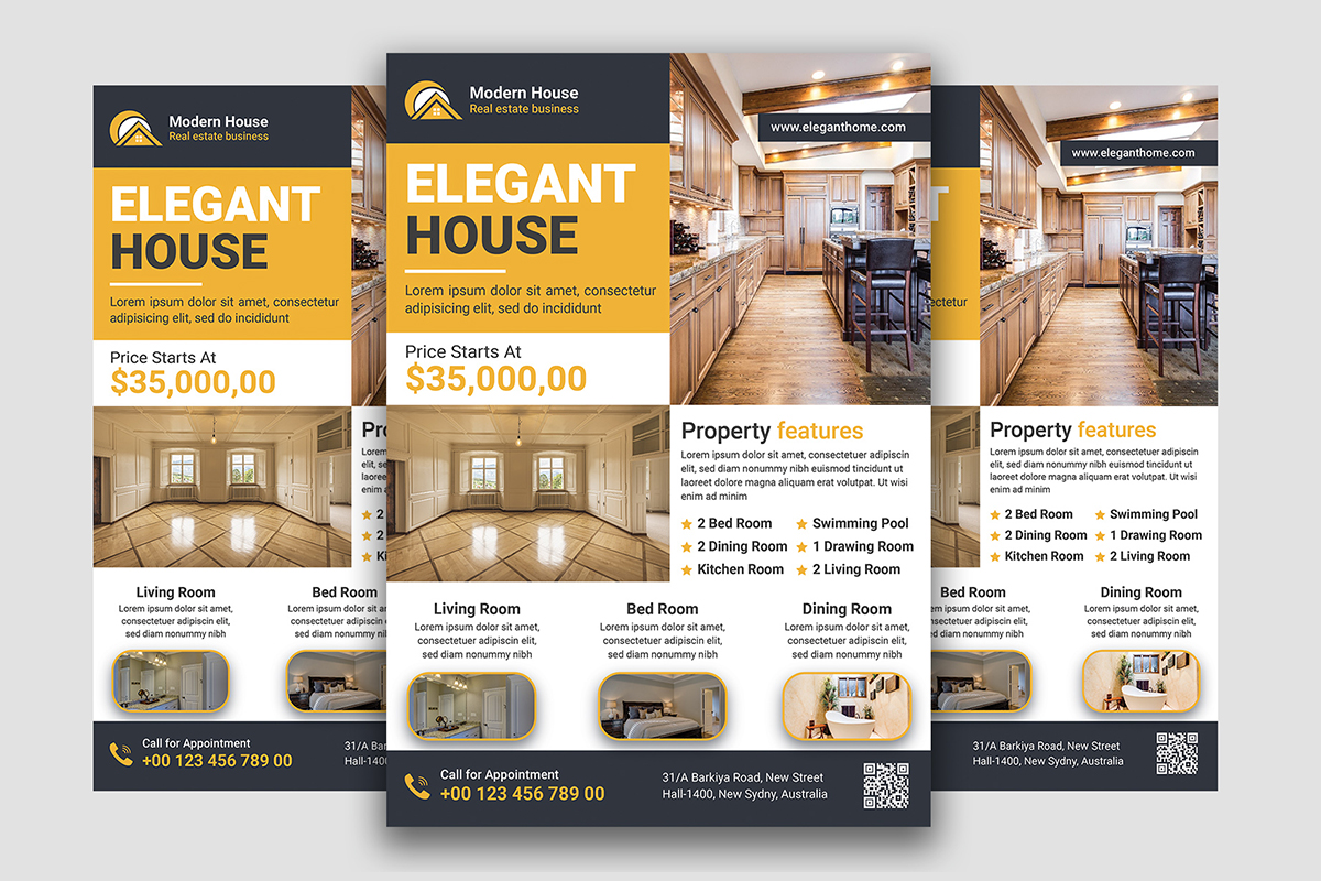 I will design modern real estate flyer