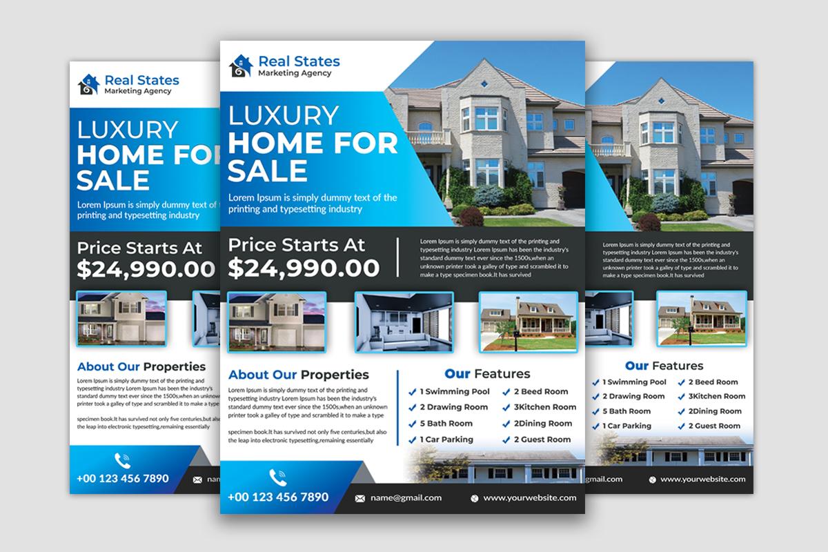 I will design modern real estate flyer